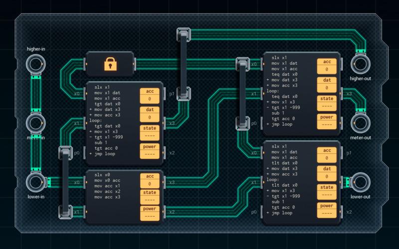 Advanced Shenzhen I/O puzzle